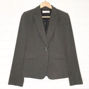 Tahari | Grey Pinstripe One-Button Blazer
